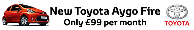 Special Offer - New AYGO Fire only £99 per month + 1 years free insurance