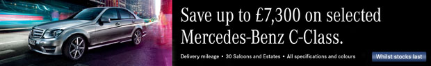 Save up to £7,300 on a Mercedes-Benz C-Class.